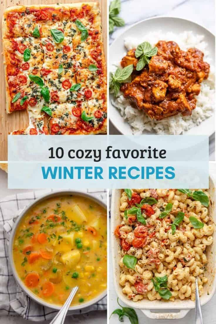 Recipe collection / recipe roundup of winter dinner recipes