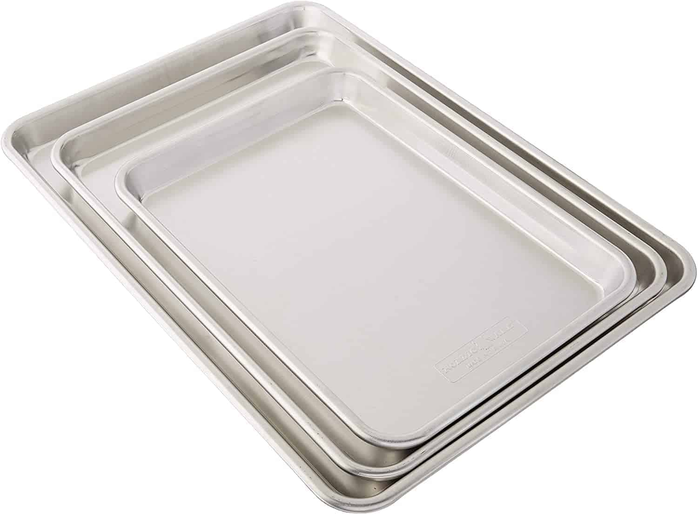Nordic Ware 3 Piece Baker's Set, Baking Dish Sheet Pan Aluminum