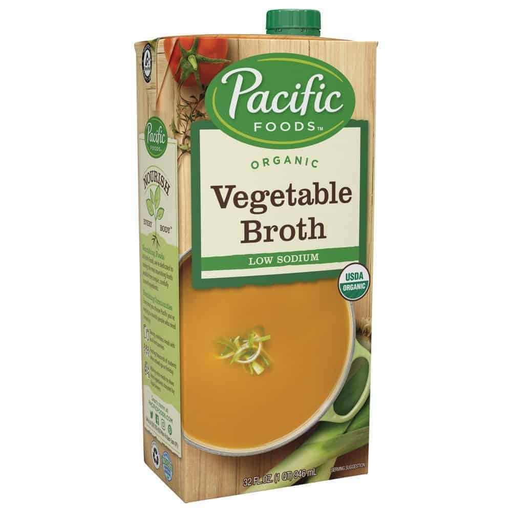 Pacific Foods Organic Vegetable Broth, Low Sodium, 32oz