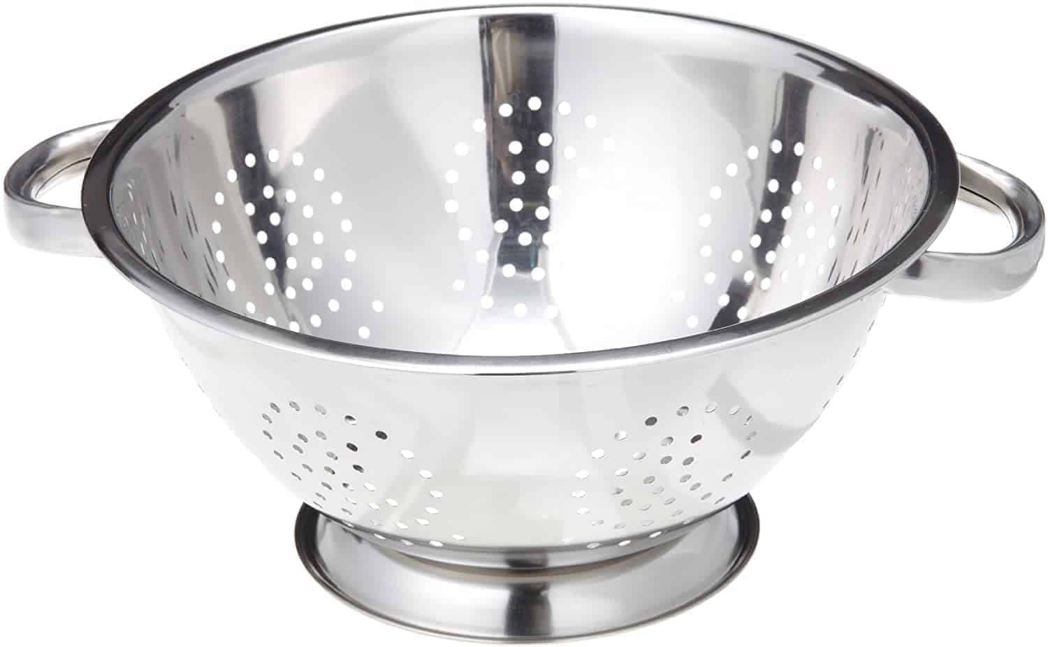 ExcelSteel Heavy Duty Handles and Self-draining Solid Ring Base Stainless Steel Colander