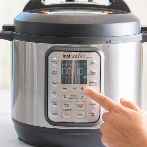 Showing timer on instant pot