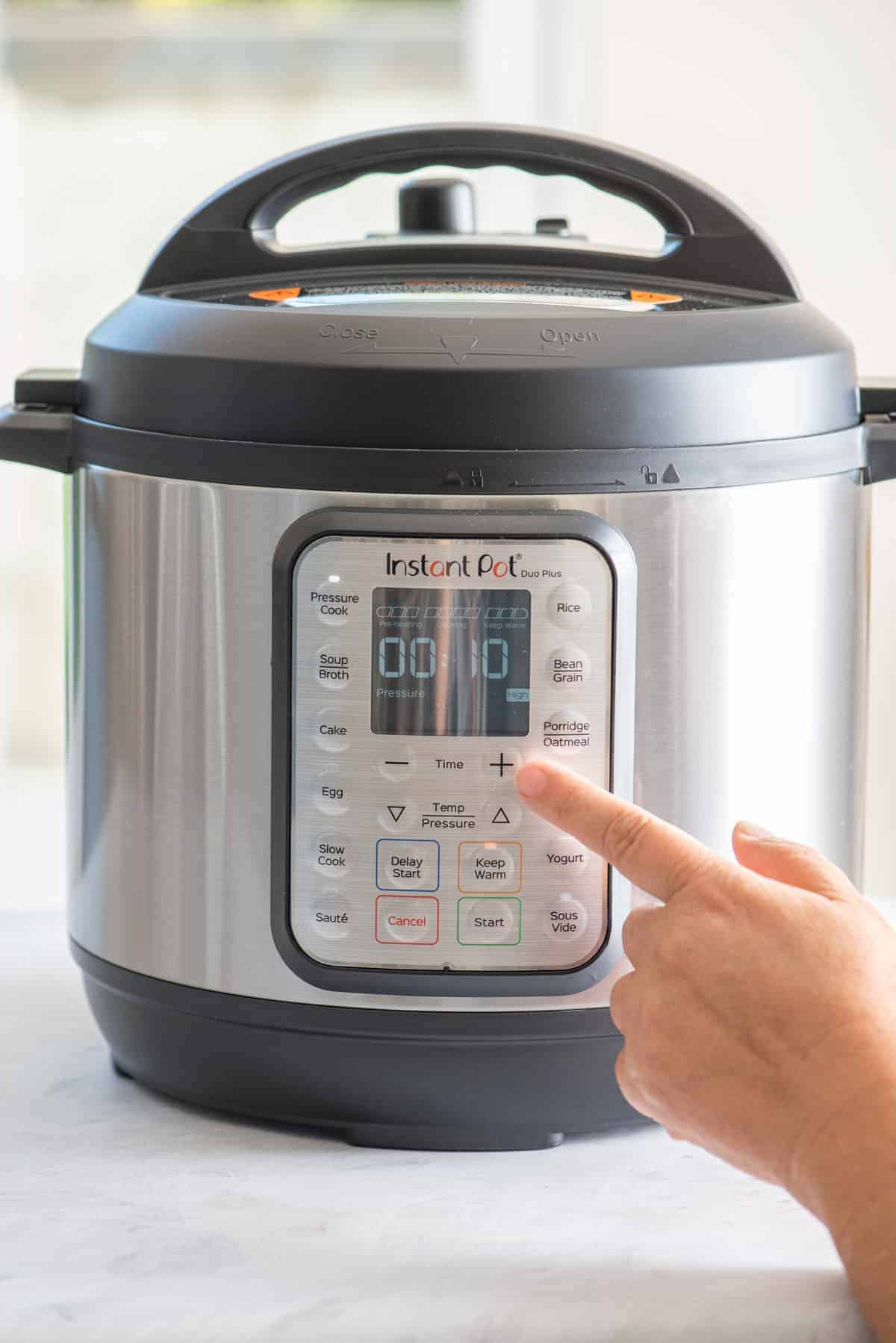 Showing timer on instant pot