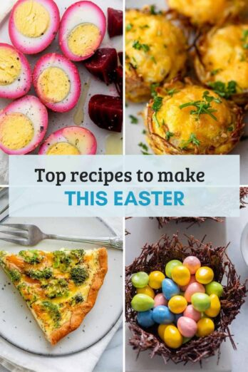 Roundup of Easter Recipes collage
