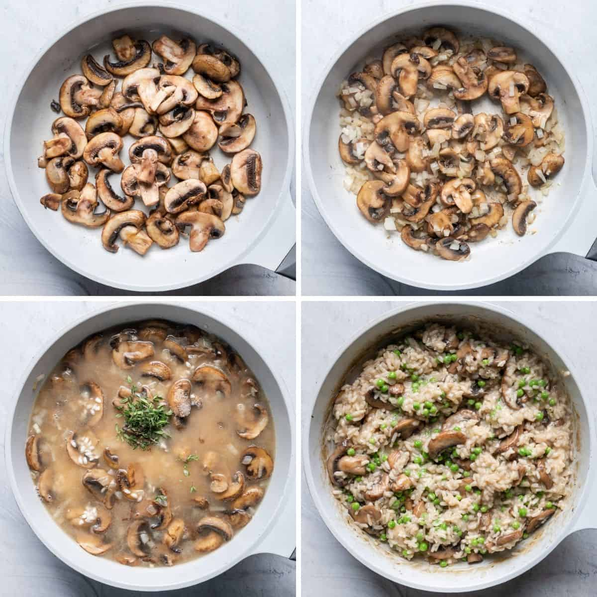 4 image collage to show how to make the recipe