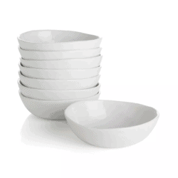 "Mercer 5"" Mini White Porcelain Bowls"