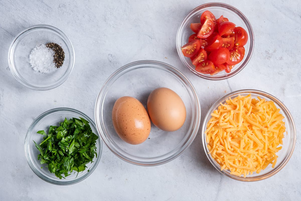 Ingredients to make the egg recipe