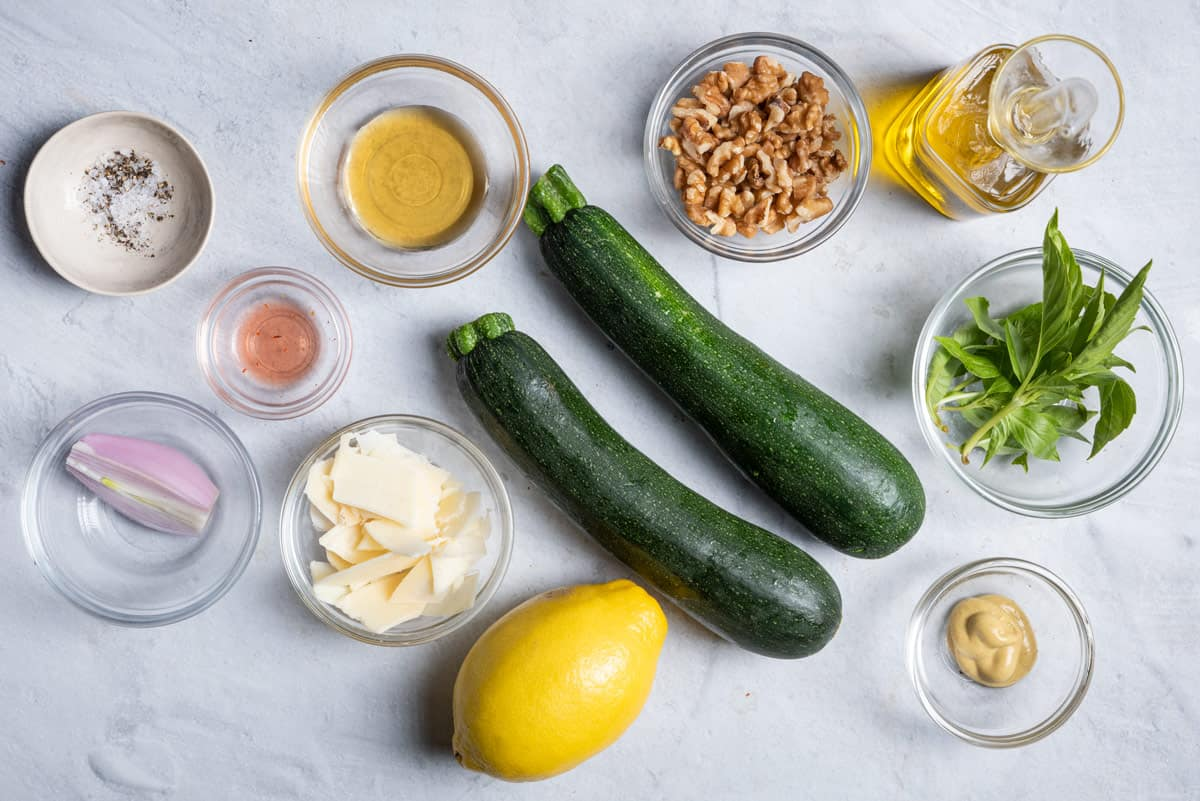 Ingredients to make the recipe before prepped