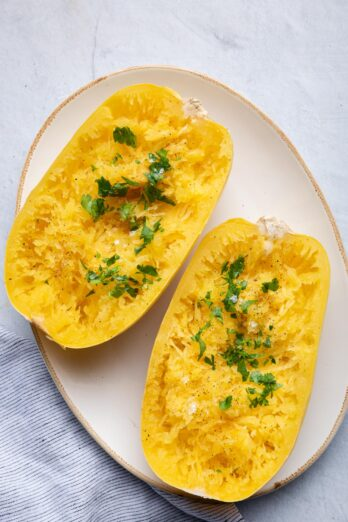 Cooked spaghetti squash when it comes out of the instant pot