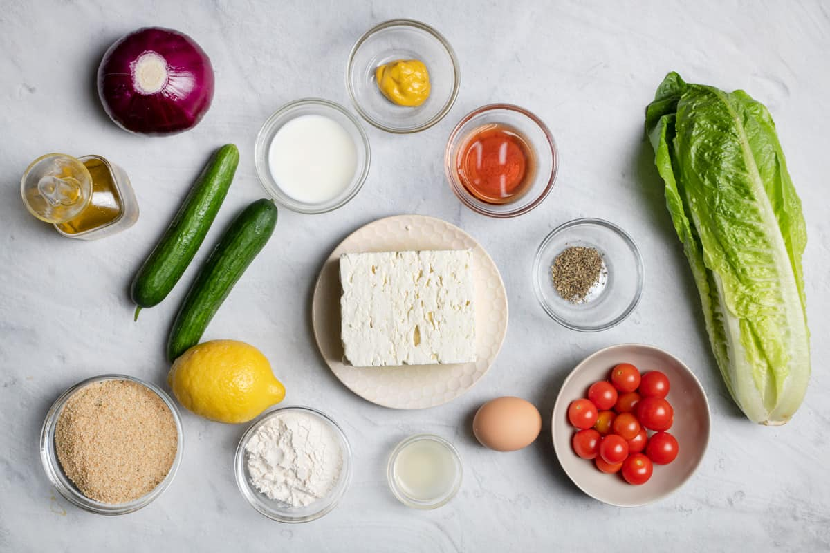 Ingredients to make the recipe before prepping them