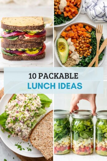 Recipe roundup of 10 packable lunch ideas
