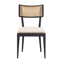 Libby Cane dining chair in nettlewood with ebony finish.