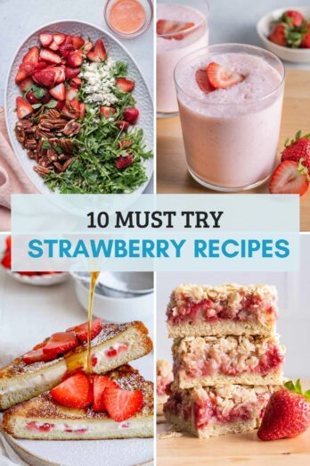 Roundup of Strawberry Recipes collage