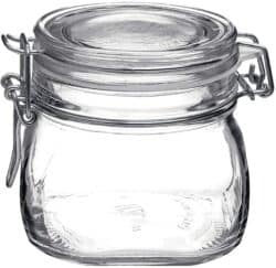 Bormioli Rocco Fido Clear 17.5 Ounce Glass Storage Jars-