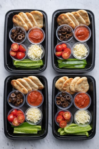 DIY Pizza lunchable meal prep