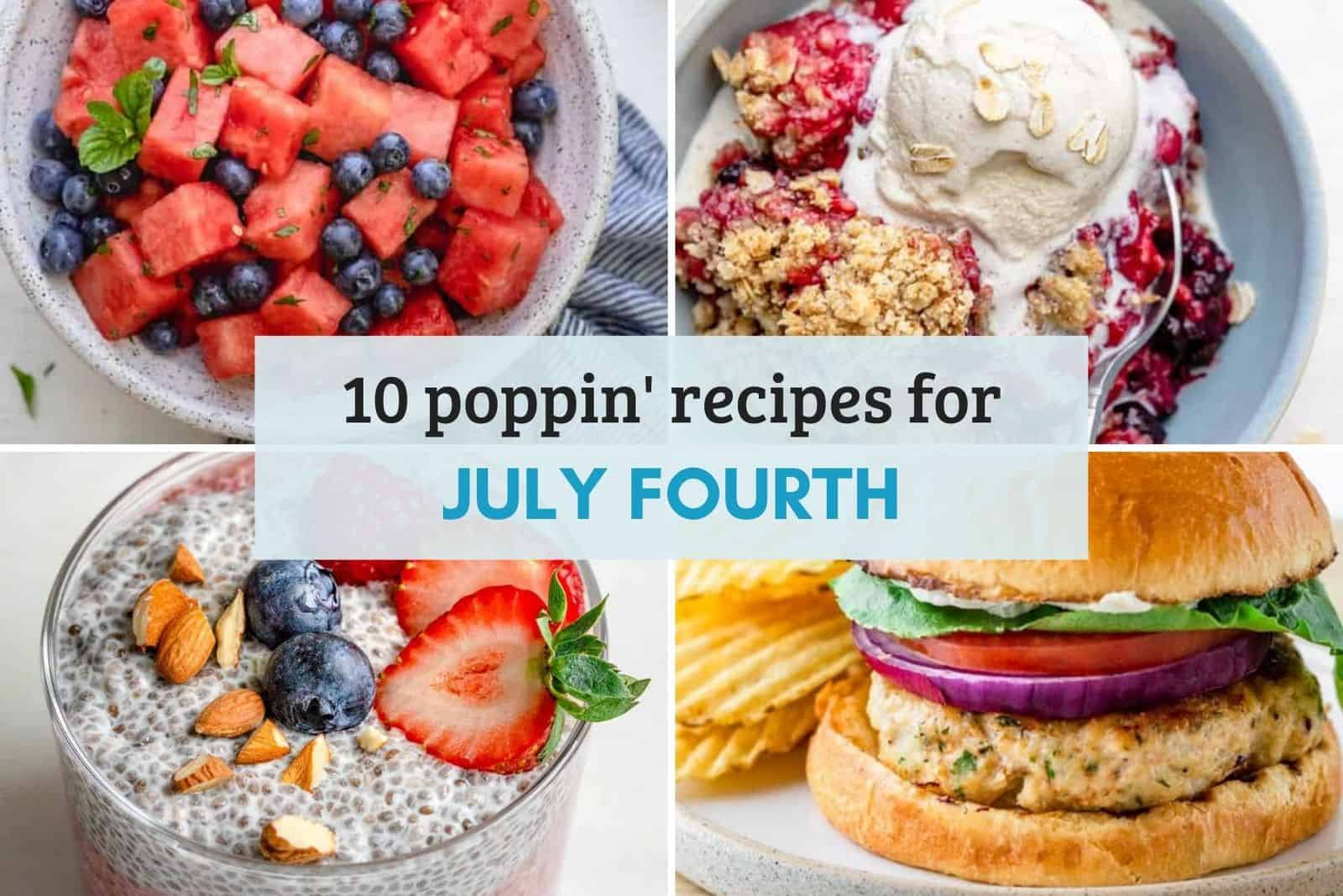 Roundup of recipes of July 4th / Fourth of July