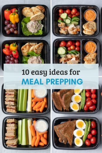 Round up of images for 10 meal prep recipes