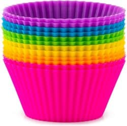 Zulay 12 Pack Silicone Cupcakes Liners
