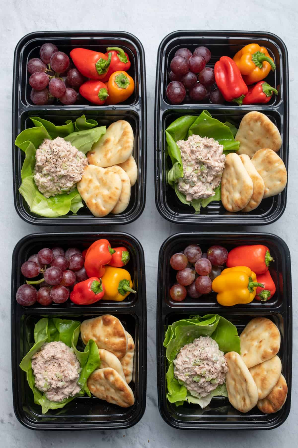 Tuna salad meal prep containers