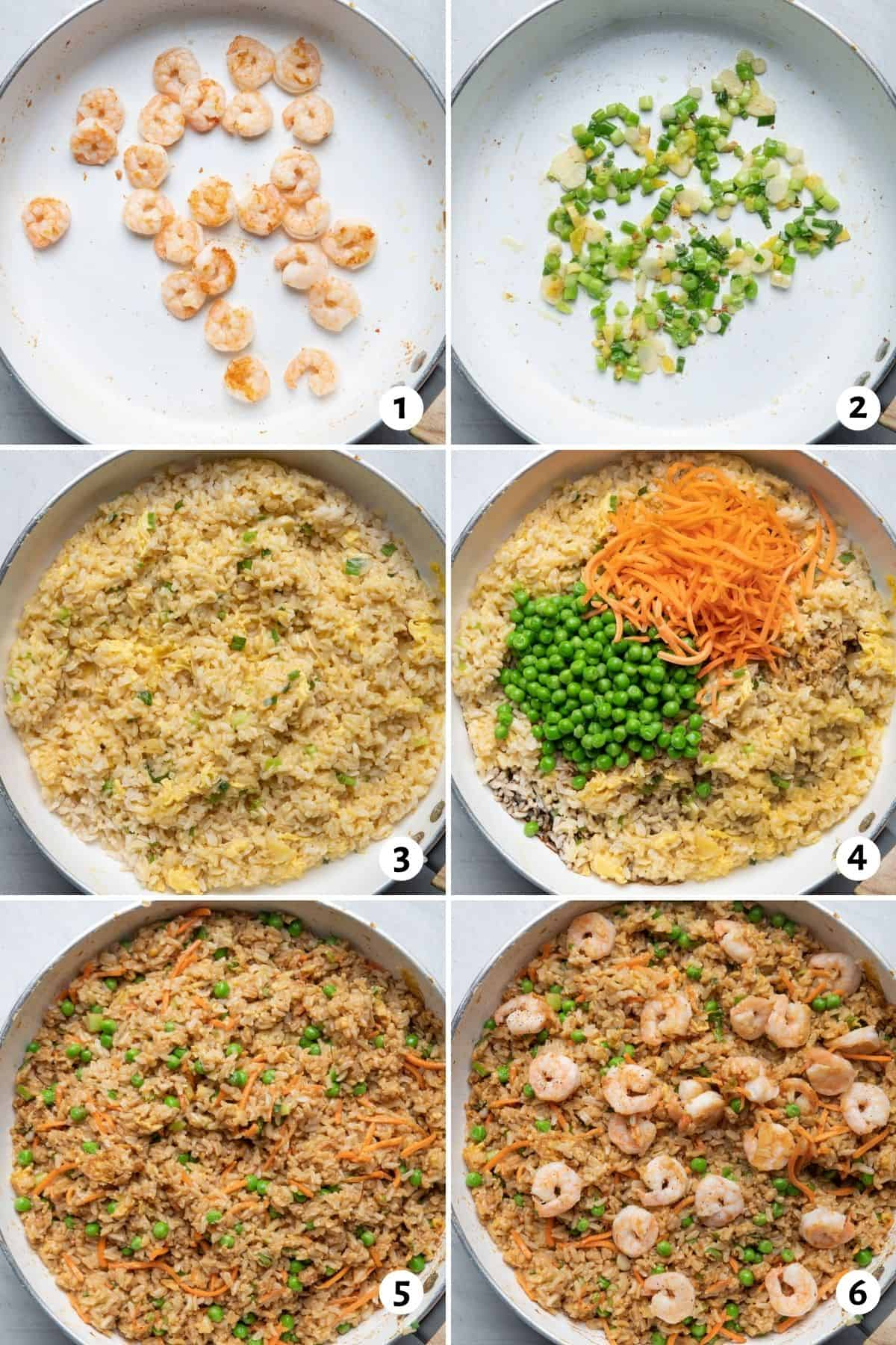 6 image collage to show how to make the recipe