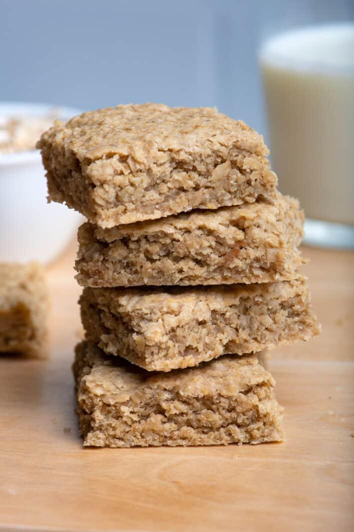 Stack of 4 oat bars - copycat recipe from Starbucks