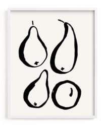 Wall art piece of four pears