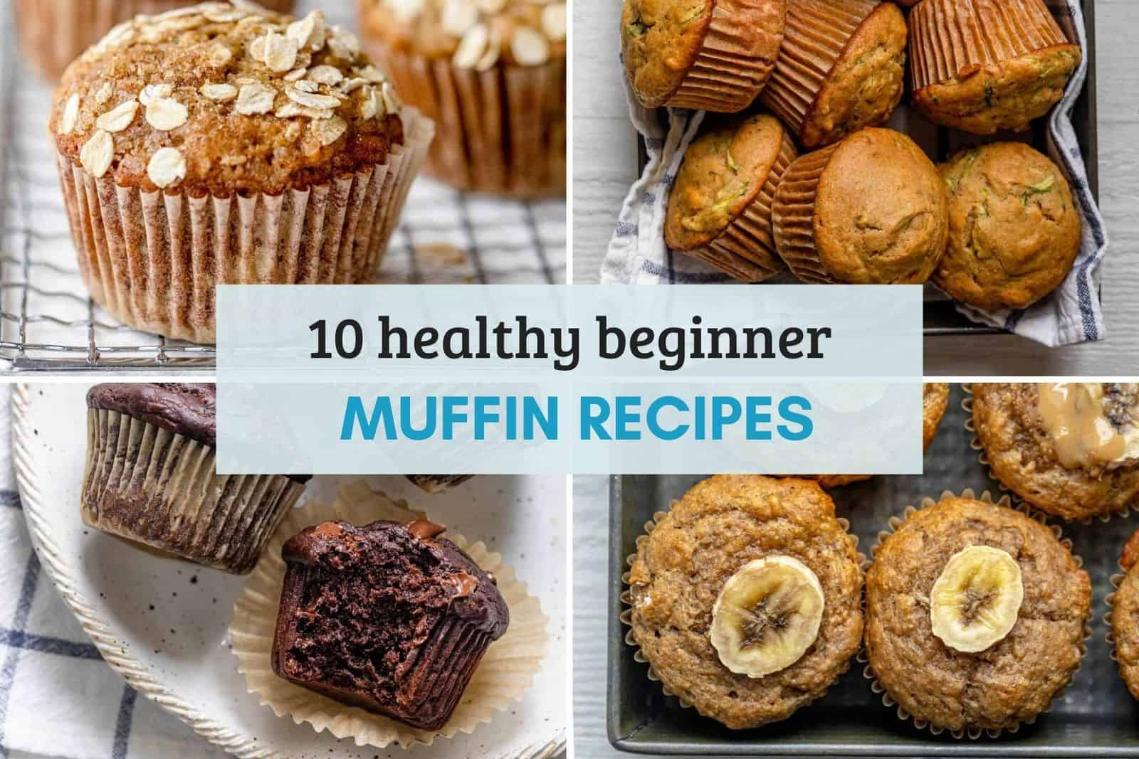 Round up of images for 10 muffin recipes